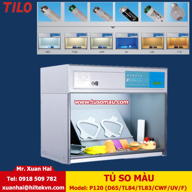Tủ so màu P120, 06 nguồn sáng D65 / TL84 / TL83 / CWF / UV /F